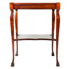 Antique Square Mahogany Side Table