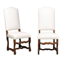 Set of Eight Vintage Louis XIII Style Dining Chairs