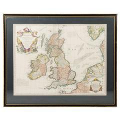 """Vintage French Map """" Des Isles Britanniques."""""""