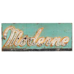 "1940s ""Moderne"" Neon Sign"
