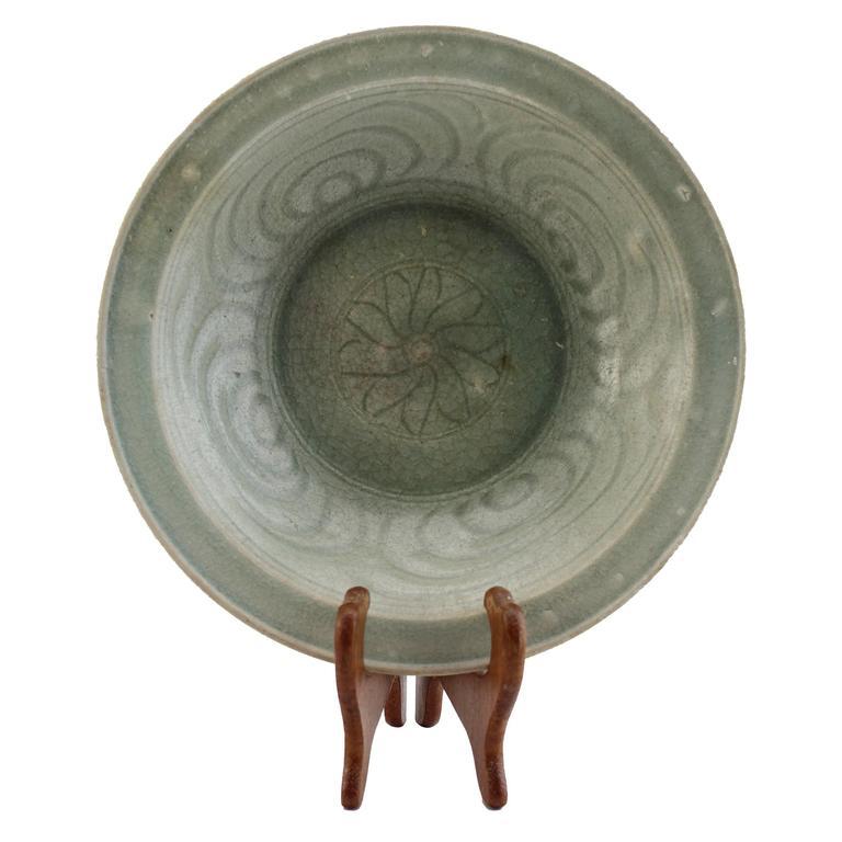 Sawankhalok Ceramic Celadon Plate- - Bowl 15th-16thC Thailand