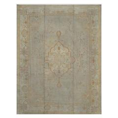 Antique Room-Size Turkish Oushak Rug