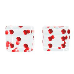 Oversized Dice Sculpture with Red Dots by Charles Hollis Jones