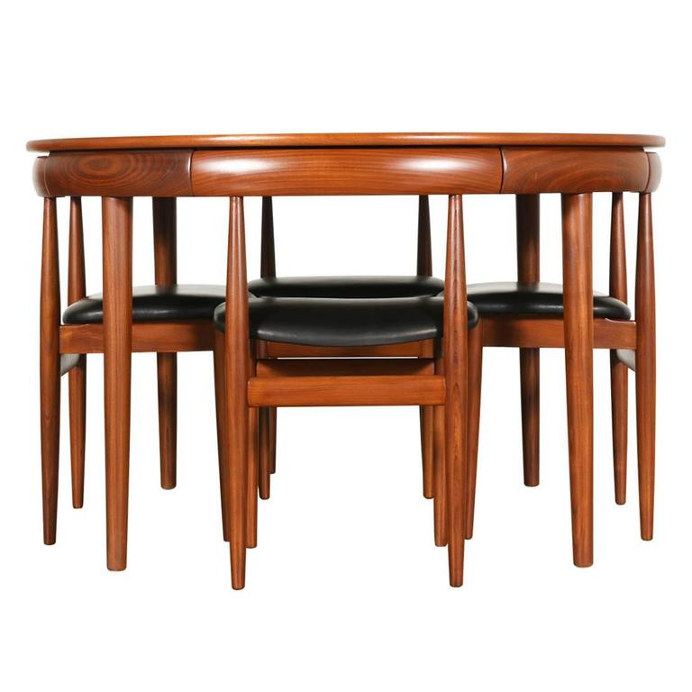 hans olsen roundette teak dining set for frem r jle at