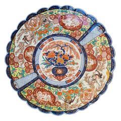 Massive 64 cm Japanese Meiji Period Imari Porcelain Dish, c. 1890