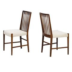 Rare Set of Eight Dining Chairs Designed by Agner Christoffersen in Denmark