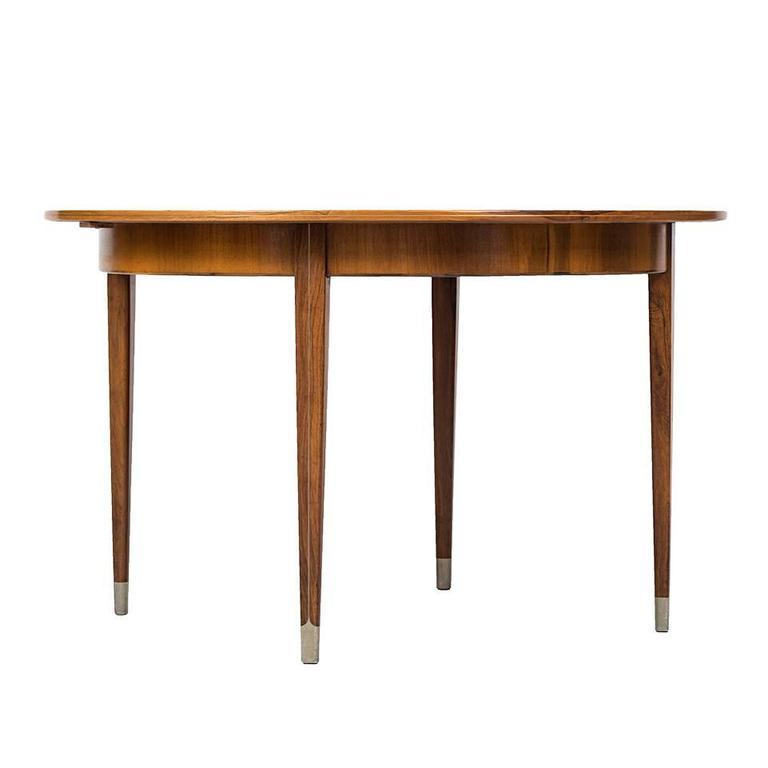 Rare Dining Table designed by Agner Christoffersen in Denmark For Sale