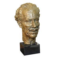 Bronze Sculpture Head of Sir Mortimer Wheeler