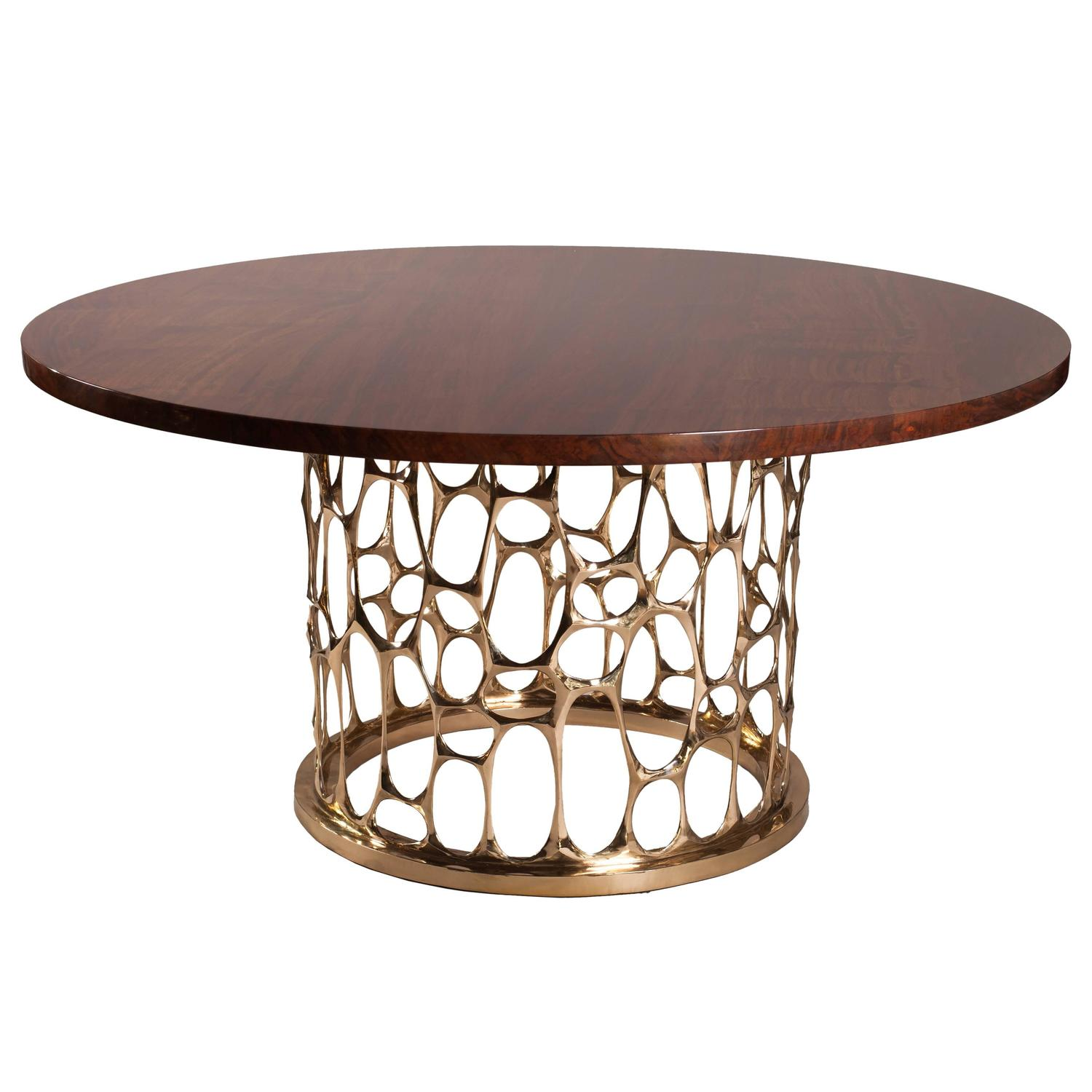 Quot homage to gaudi bronze dining table by nick king at stdibs