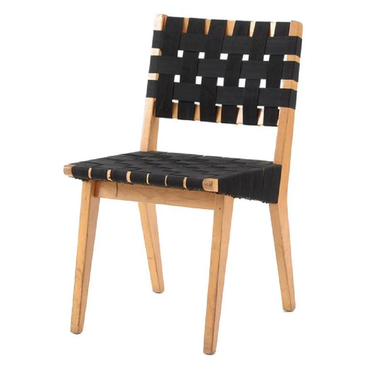 Original 1952s webbed wood side chair by jens risom for knoll for sale at 1stdibs - Jens risom side chair ...