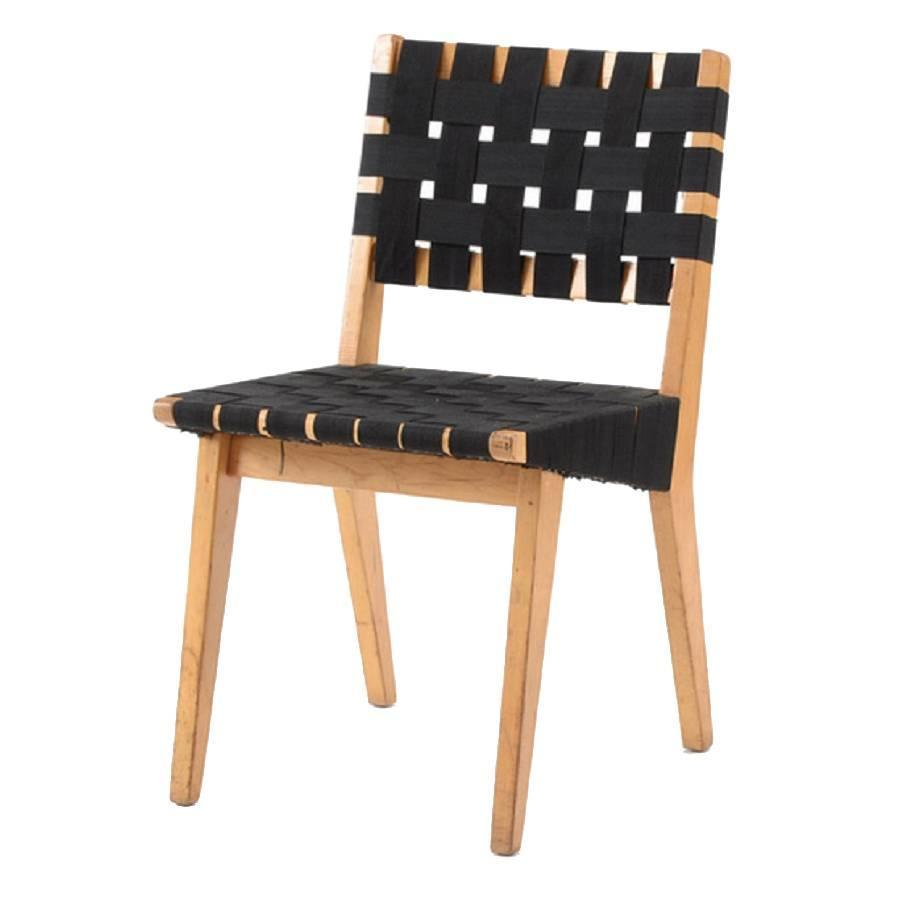 Incroyable Original 1952s Webbed Wood Side Chair By Jens Risom For Knoll For Sale At  1stdibs
