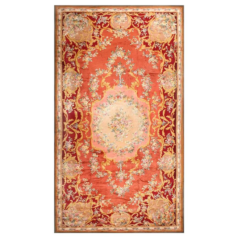 Oversized Antique French Savonnerie Rug For Sale At 1stdibs