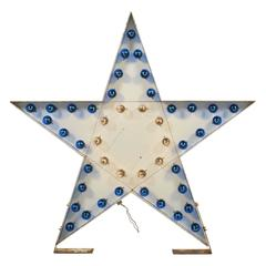 Huge Vintage Flashing Star Sign, Double Sided