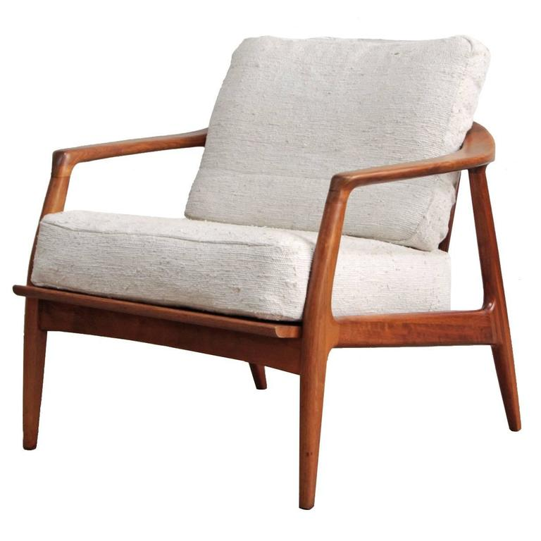 Milo Baughman Teak Lounge Chair at 1stdibs