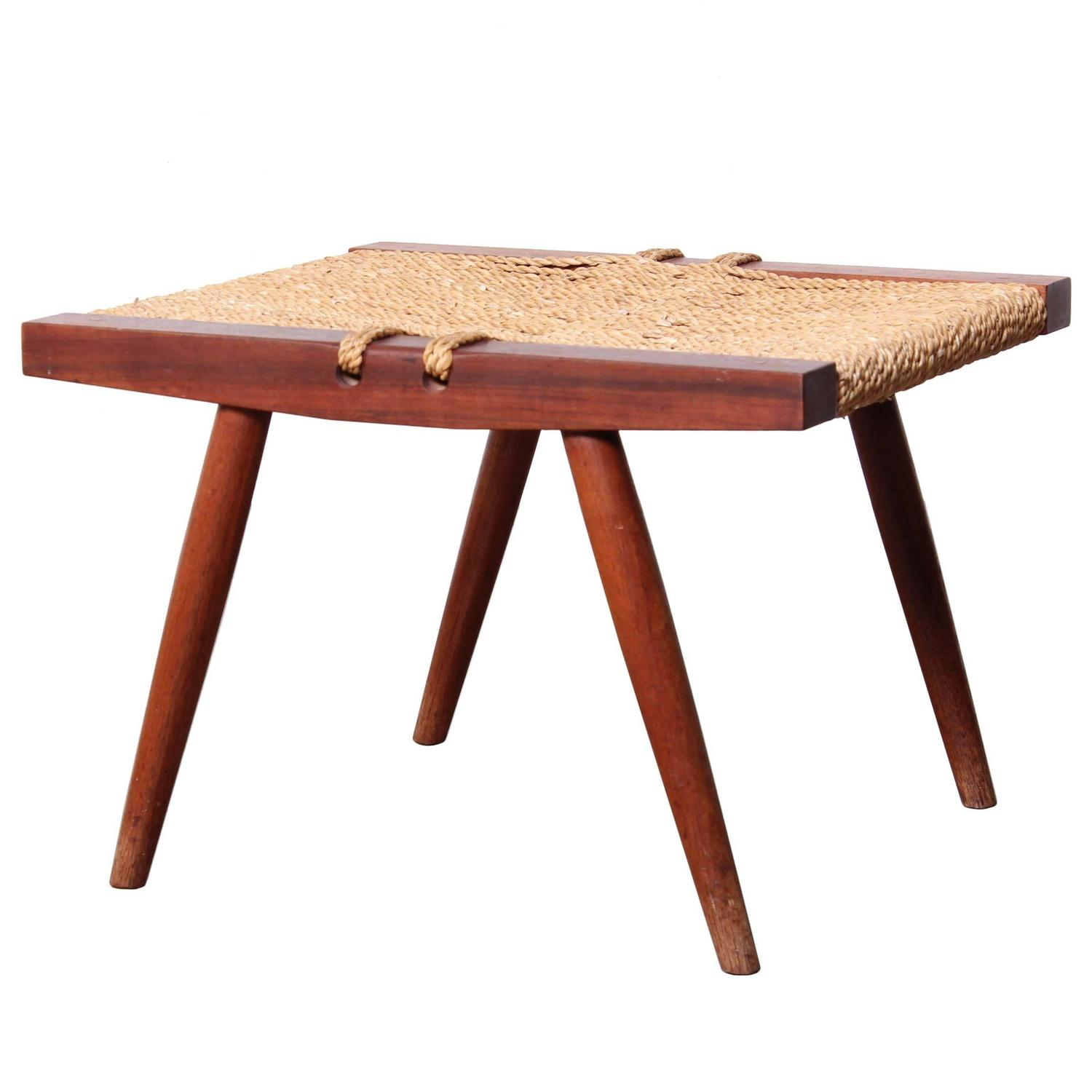 Grass Seat Stool By George Nakashima At 1stdibs