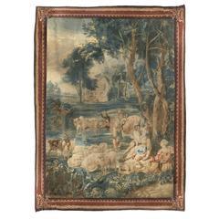 18th Century Brussels Tapestry Signed P. Van Den Hecke