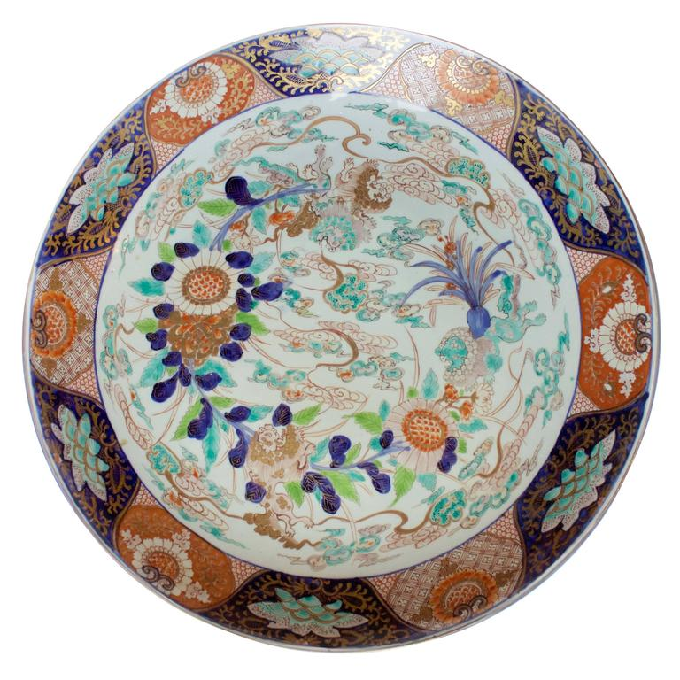 19th Century Large Imari Porcelain Charger 1