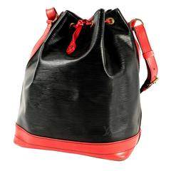 Vintage Louis Vuitton Grand Noe Bag, Epi Leather, Black and Red
