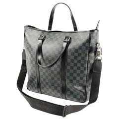 Pre-Owned Tadao Bag by Louis Vuitton, Grey and Black