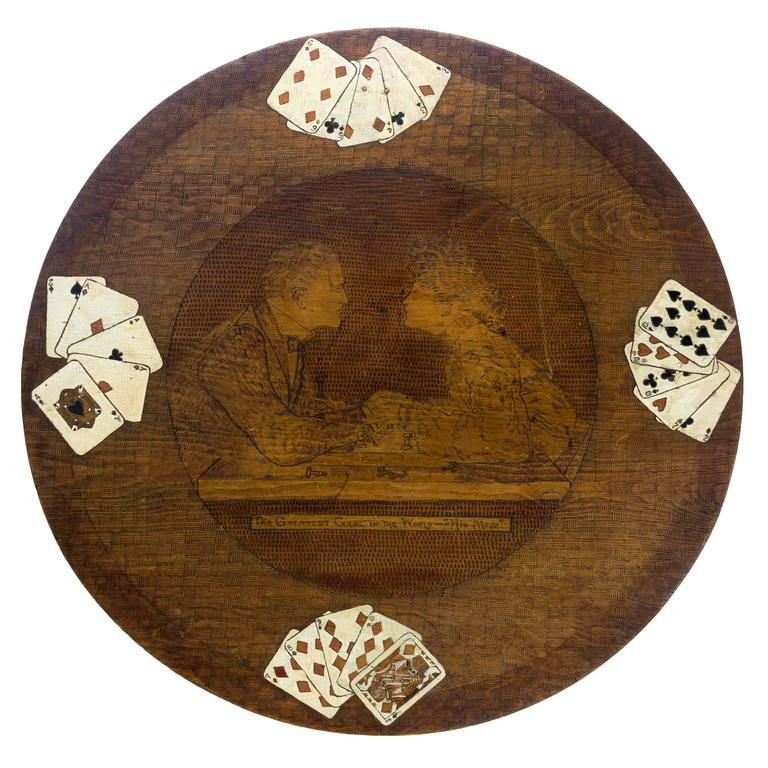 Arts and crafts ivy league university card table at 1stdibs - University league tables french ...