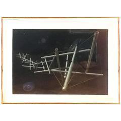 Kenneth Snelson Night Landing 1991-1998 Framed Iris Print