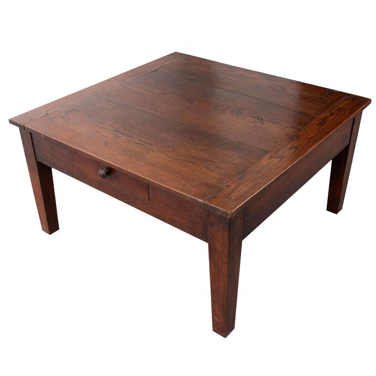 square coffee tables for sale 19th century square oak coffee table for at 8206