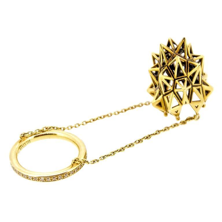 Stella Thimble Diamond Gold Ring