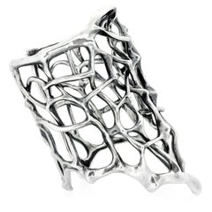 Sterling Silver Thorn Cuff by John Brevard