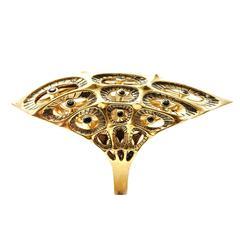 Morpho Black Diamond Gold Ring