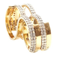 Fabri Infinity Double-Loop Diamond and 18K Gold Ring
