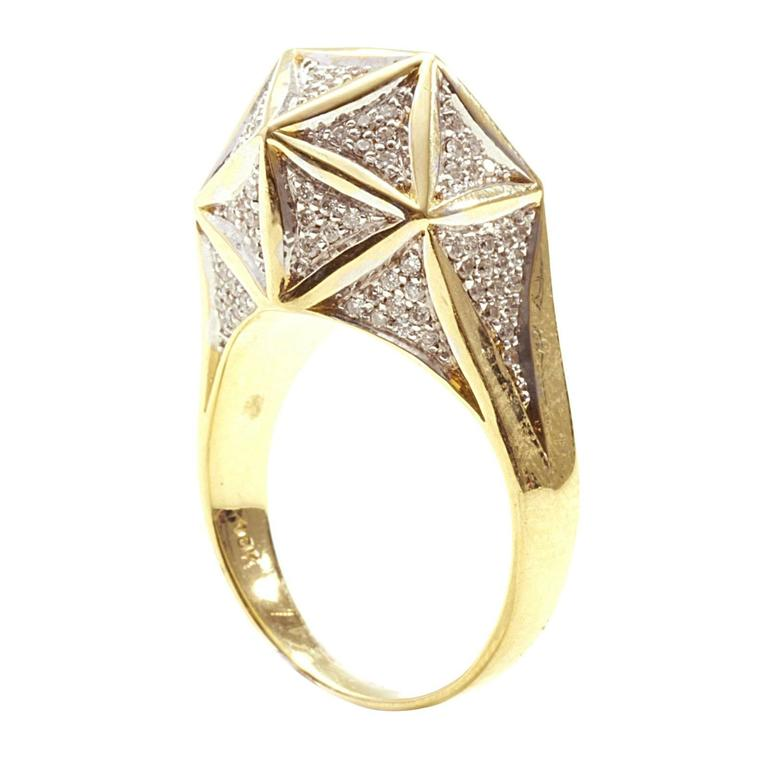 Icoso Mini Diamond Gold Ring