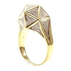 Icoso Mini Diamond 18K Gold Ring