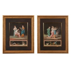 Pair Of Italian Neoclassical Water-colors
