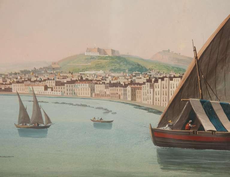 Beaux Arts Italian Neapolitan Gouache Views For Sale