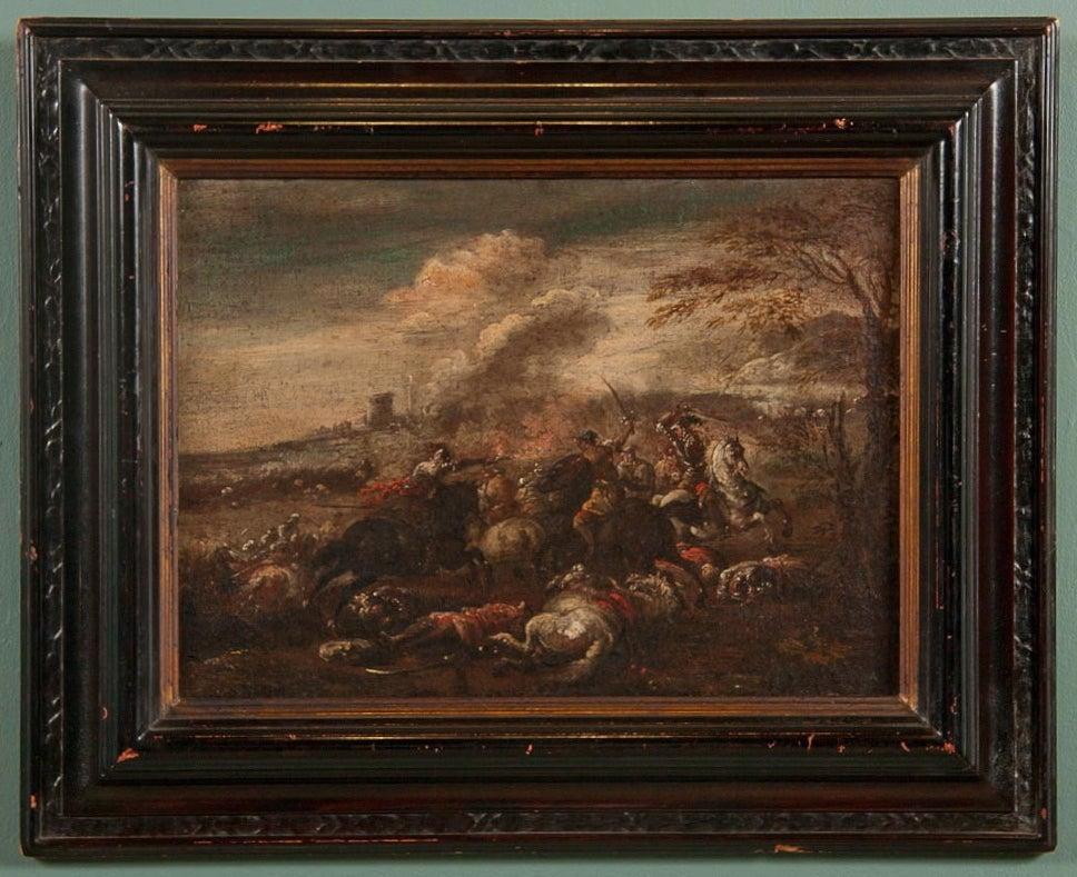 Italian Neapolitan Battle Scene, Late 17th Century