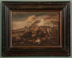 Italian Neapolitan Battle Scene, Late 17th Century