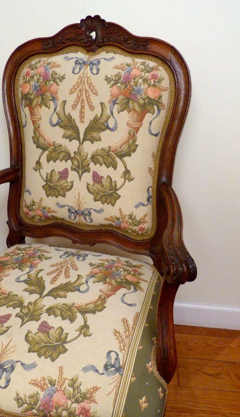 Rococo Italian Venetian Armchair, 18th Century For Sale