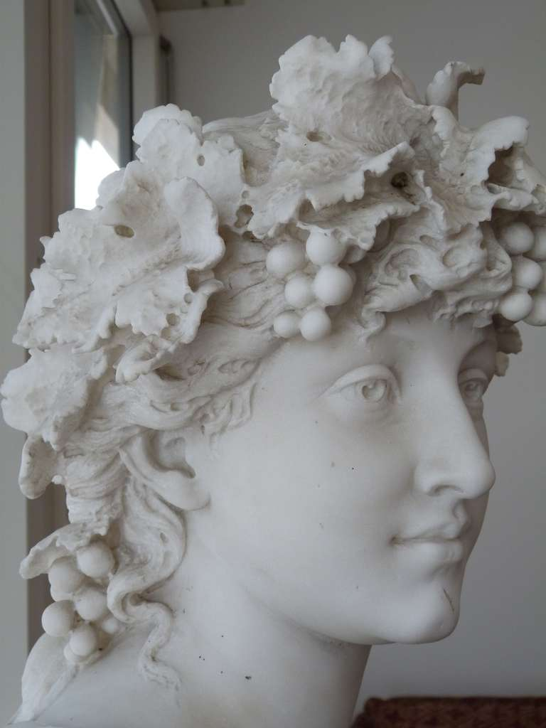 """Louis Wethli Marble Sculpture of an Italian """"Baccante"""" at ..."""