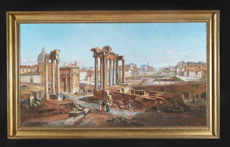 Vincenzo Giovannini Panoramic View of the Roman Forum 2