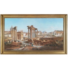 Vincenzo Giovannini Panoramic View of the Roman Forum