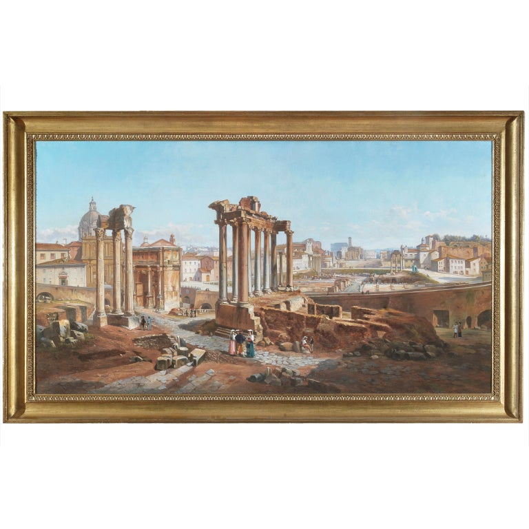 Vincenzo Giovannini Panoramic View of the Roman Forum For Sale