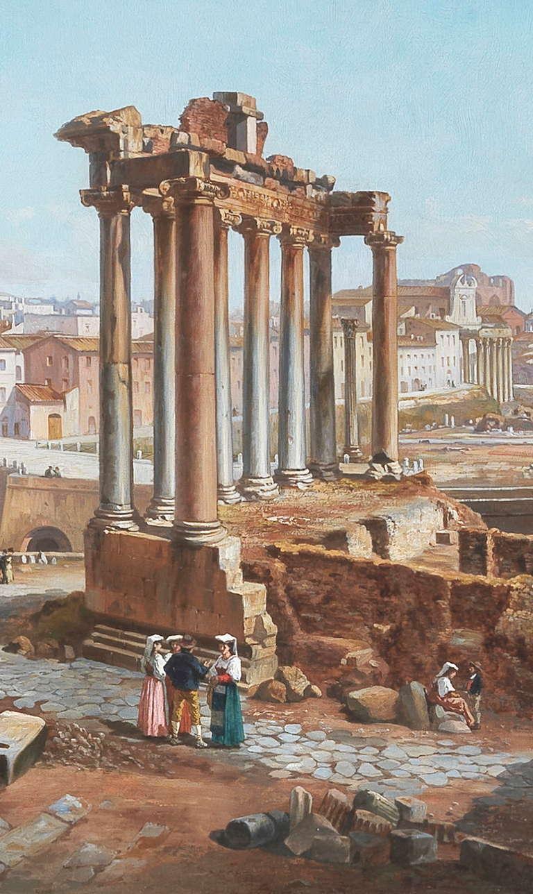 Vincenzo Giovannini Panoramic View of the Roman Forum 4