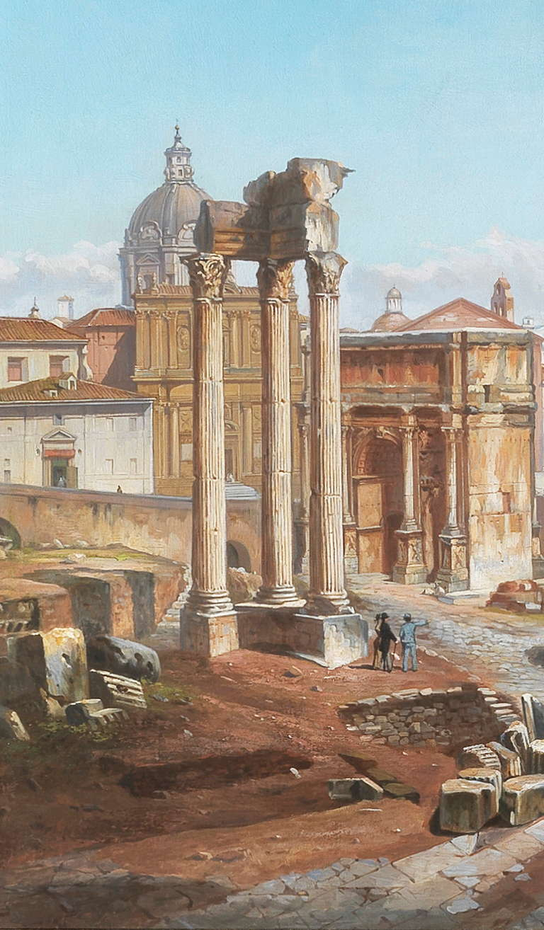 Vincenzo Giovannini Panoramic View of the Roman Forum In Excellent Condition For Sale In Stamford, CT