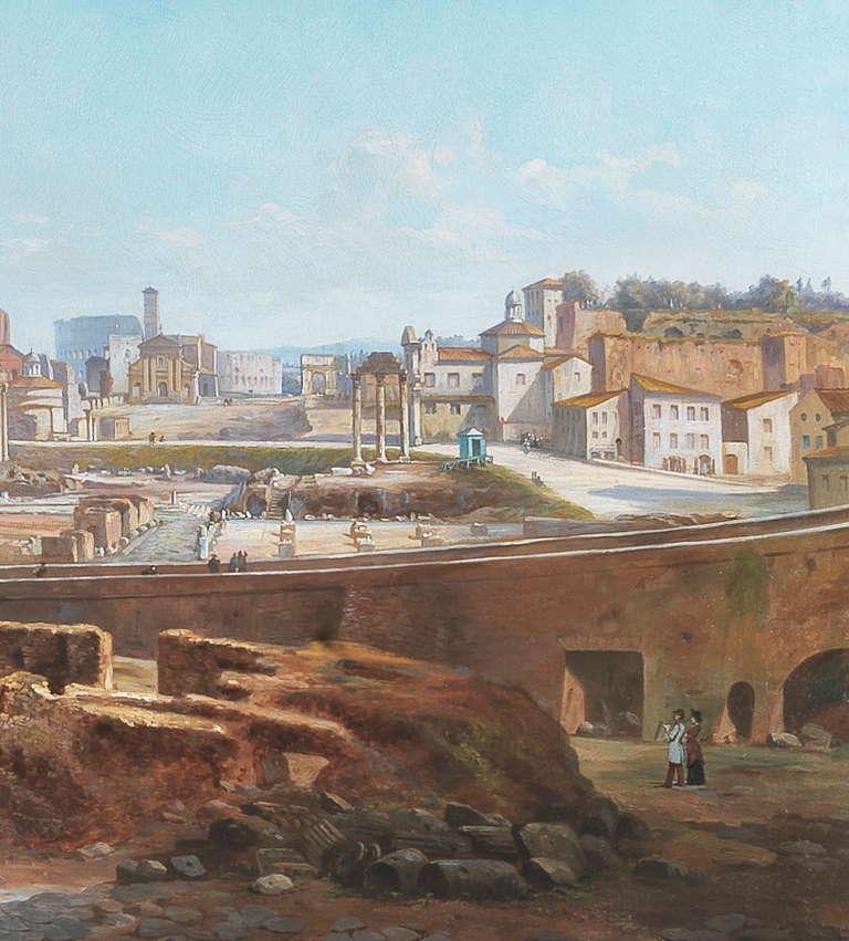 Vincenzo Giovannini Panoramic View of the Roman Forum 6