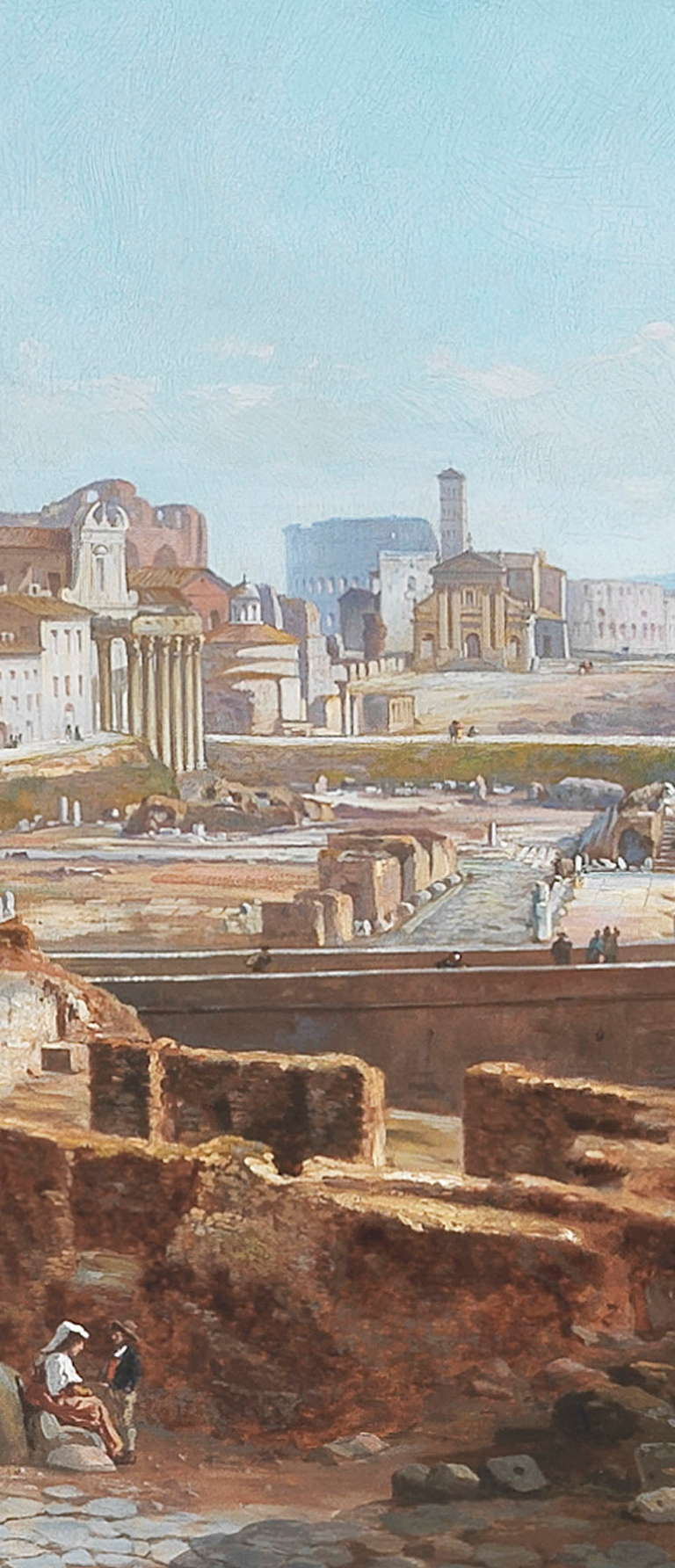 Canvas Vincenzo Giovannini Panoramic View of the Roman Forum For Sale