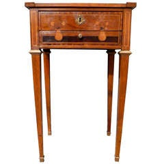 Late 18th Century Northern Italian Inlaid Sewing Table