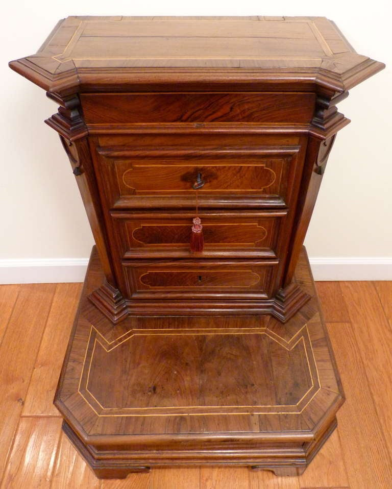 Rococo Italian Inlaid Rosewood Prie-Dieu, 18th Century For Sale
