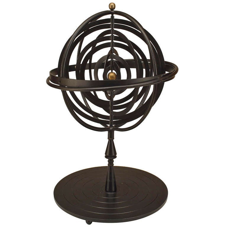 20th c. Iron Armillary Sphere For Sale