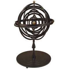 20th c. Iron Armillary Sphere