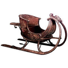 Late 18th or Early 19th c. Russian Painted Sleigh
